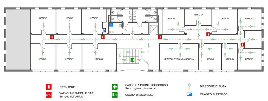 Palazzina uffici primo piano for Planimetrie del paese di collina